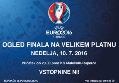 Ogled finala EURO 2016 na velikem platnu